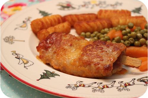 Cordon Bleu met Aardappelkroketjes