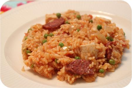 Risotto met Kip, Chorizo en Doperwten