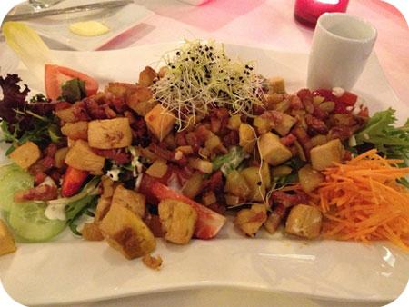 salade met appel en kip Otus in Wetteren