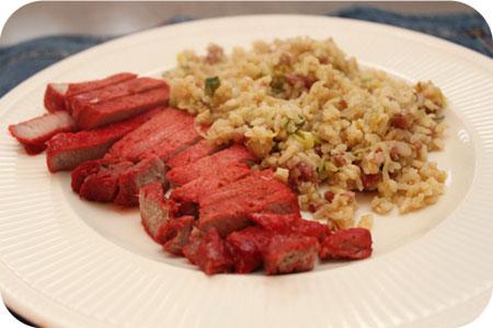 Nasi Keboeli met Rood Vlees