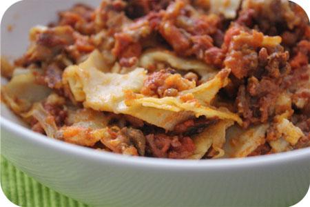 Lasagne uit de Vriezer
