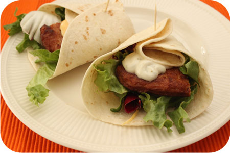 Wraps met Tivall Gekruide Filet