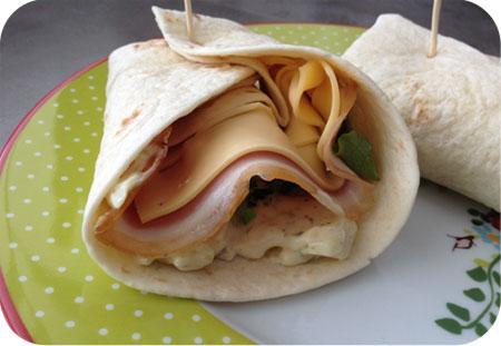 Wraps for Lunch: Wraps met Aardappelsalade, Ham en Kaas
