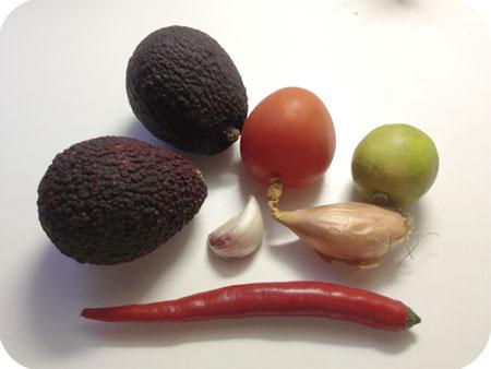 Guacamole ingrediënten