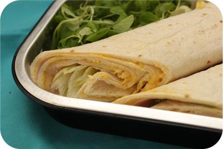 Frisse Salade Wrap met Kip van de Groenteboer