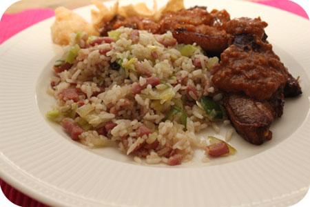 Gewoon lekker: nasi met saté