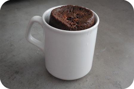 Chocoladecakejes uit de Magnetron het resultaat