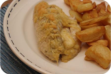 Kipfilet gevuld met Monchou en kaas