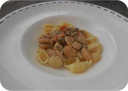Kip alla Romana met pasta