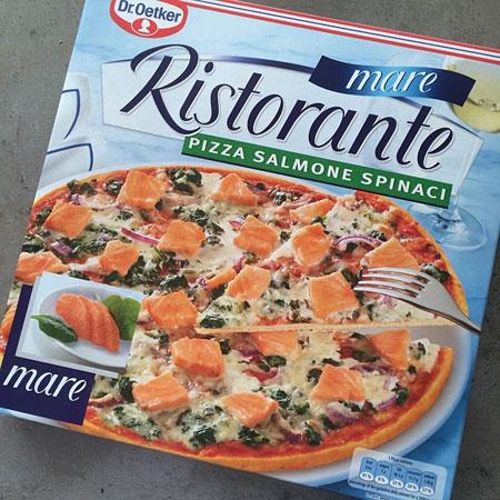 Oetker Ristorante Mare Pizza Salmone Spinachi