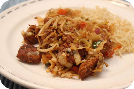 Noodles met Oosterse Wokblokjes