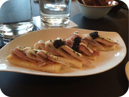 brioche paling crème fraiche haringkuit
