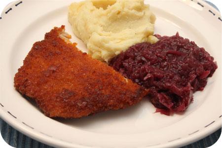 Rode Kool met Schnitzel