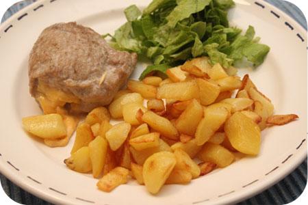 Schnitzel gevuld met Ossenworst en Kaas