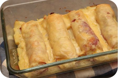 Zuurkoolrolletjes met Ham en Kaas