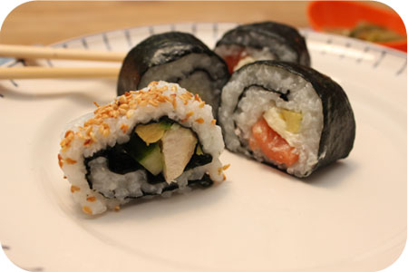 Huisgemaakte Sushi!