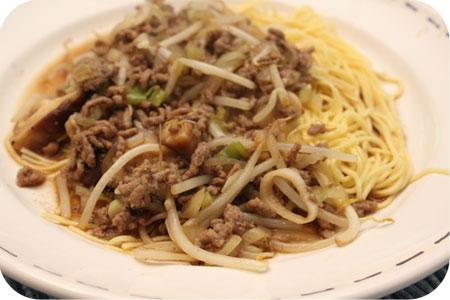 Thaise Noodles met Gehakt en Shiitake