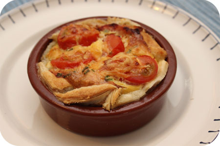 Hartig Taartje met Tomaatjes en Spek