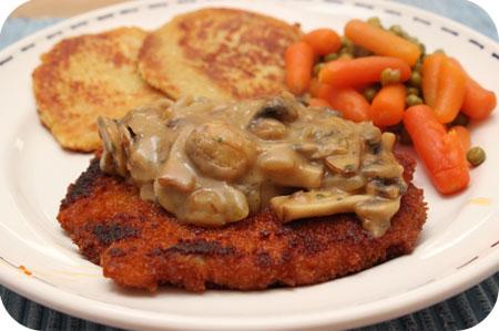 Schnitzel met Champignons