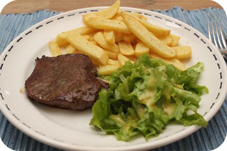 Biefstuk met Frieten en Sla