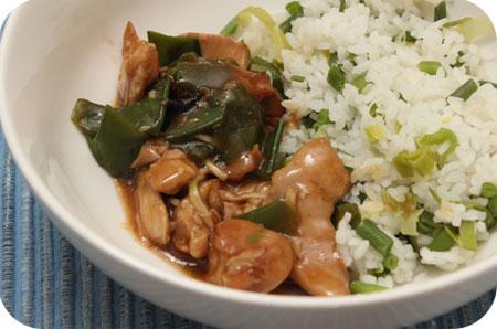 Japans Feest van Gijs Japanse rijst en Japans kip