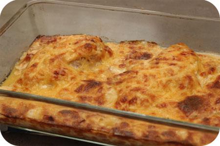 Kipfilet uit de Oven met Ham-Kaas Saus