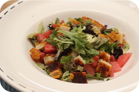 Salade met Kip Krokant en Meloen