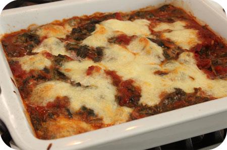 Schnitzels met Spinazie-Tomatensaus