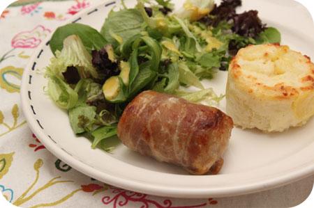 Slavink met Sla en Aardappelgratin