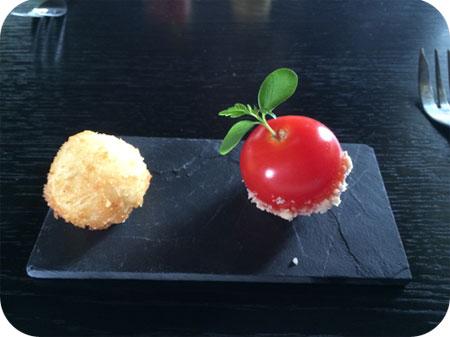 De Vendel in Veenendaal Amuse tomaat en geitenkaas