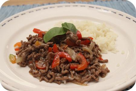 Rijst met Gehakt en Paprika