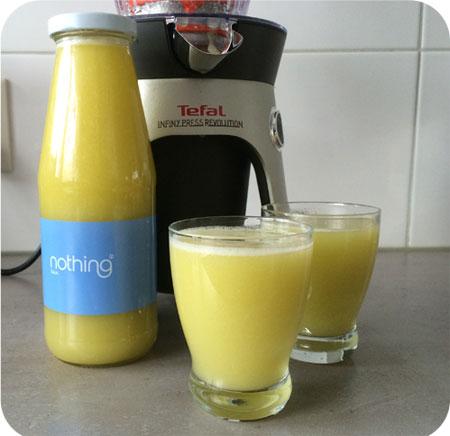 Perensap met Kiwi en Sinaasappelsap