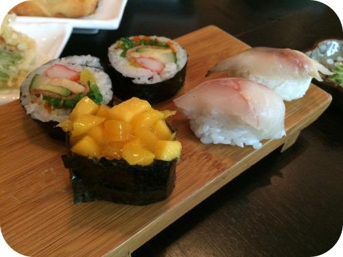 Nakoyashi in Veenendaal mango aloe vera, suzuki, saba, futo maki