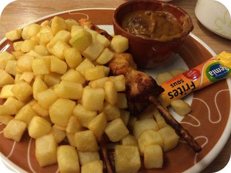 De tuincafé bij Intratuin Duiven saté menu