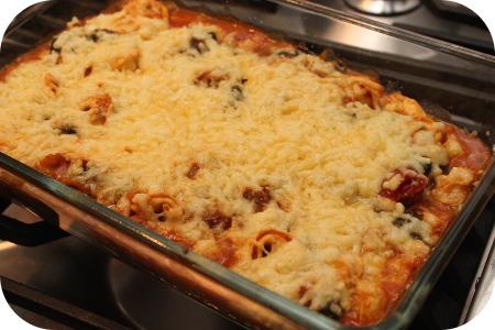 Vega: Tortellini met Spinazie uit de Oven