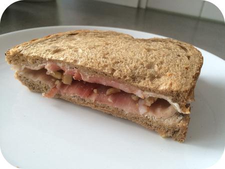 Boterhammen de Luxe rauwe ham