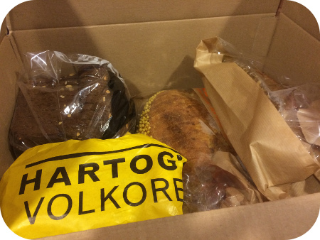 Lunch van de Buurtboer doos met brood