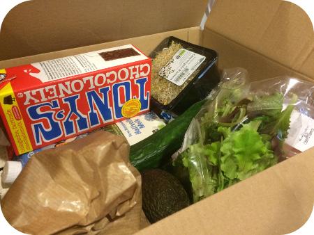 Lunch van de Buurtboer doos met producten