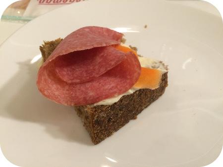 Stegeman Workshop Boterhammen salami, gemarineerde wortelen, zure roomkaas