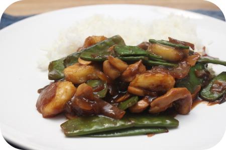 Rijst met Kipfilet, Peultjes en Banaan