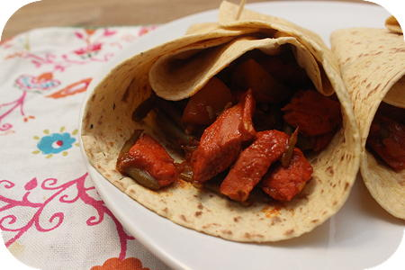 Roti met Kip en Sperzieboontjes in Tandoorisaus