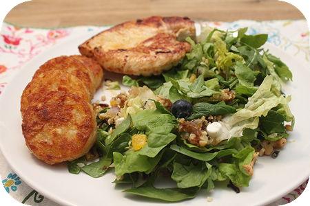Lente Salade Geitenkaas met Kip en Röstirondjes