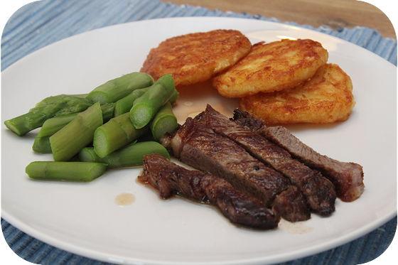 Sirloin Steak met Groene Asperges