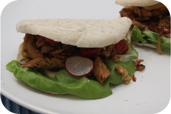 Broodje Vegetarische Kip Shoarma