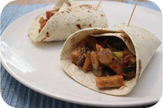 Wraps met Vegetarische Roerbakbakreepjes