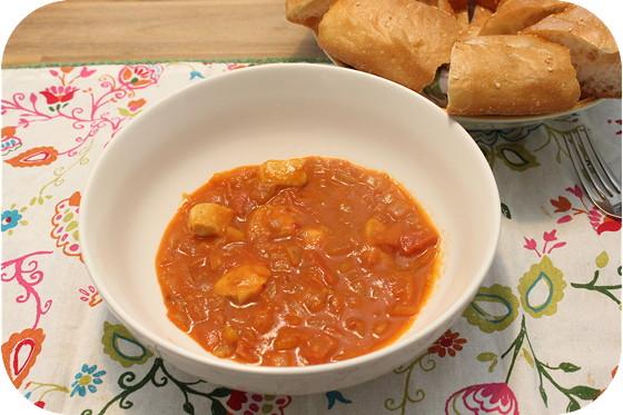 Curry met Kipfilet en Turks Brood
