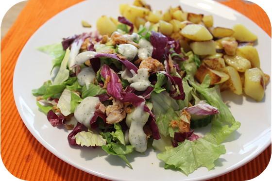 Salade met Kip, Aardappel en Bacon