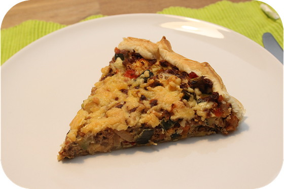 Vegetarische Curry Quiche
