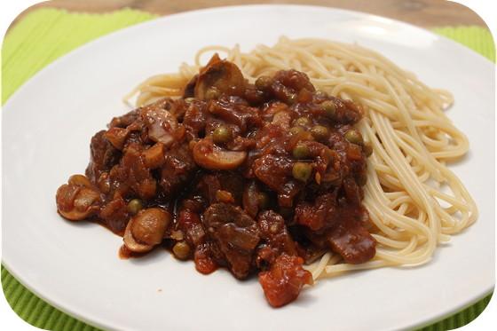 Spaghetti met Indisch Stoofvlees