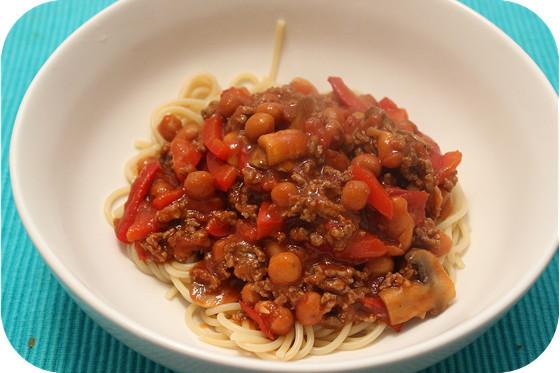 Spaghetti met Bonen Erbij